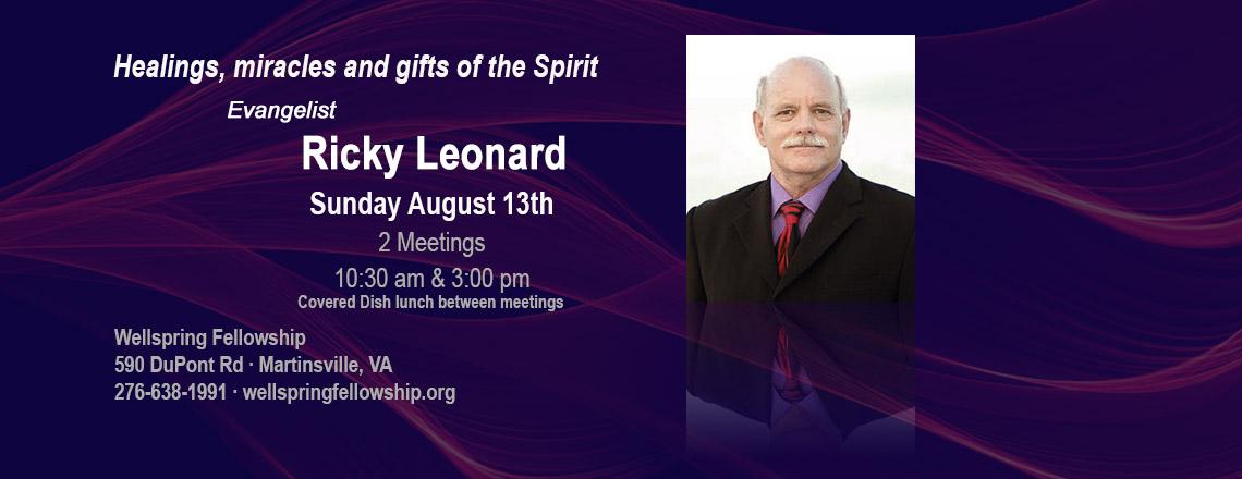 Evangelistic Ricky Leonard – Aug 13th 2017
